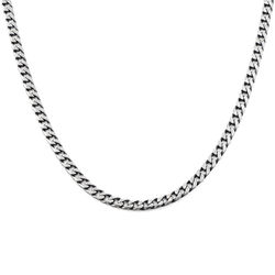 Curb Chain Necklace in Sterling Silver product photo