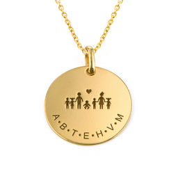 Family Necklace for Mom in Gold Vermeil product photo