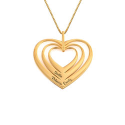 Family Hearts necklace in 18k Gold Plating - Mini design product photo