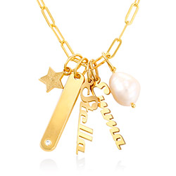 Siena Chain Bar Necklace in Vermeil product photo