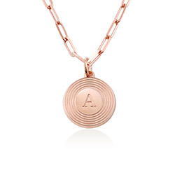 Odeion Initial Necklace in 18k Rose Gold Plating product photo