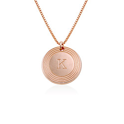 Fontana Initial Necklace in 18k Rose Gold Plating product photo