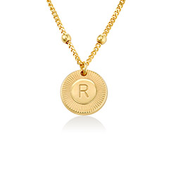 Mini Rayos Initial Necklace in 18K Gold Plating product photo