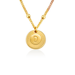 Mini Rayos Initial Necklace in Vermeil product photo