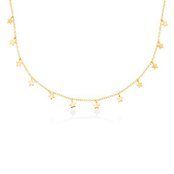 Star Choker Necklace in Gold Plating product photo