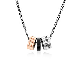 Engraved Beads Necklace for Men product photo