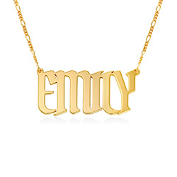 Large Custom Name Necklace in Gold Plating product photo