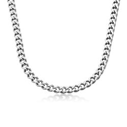 Harper Cuban Link Necklace in Stainless Steel product photo