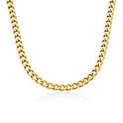 Harper Cuban Link Necklace in 18k Gold Plating product photo