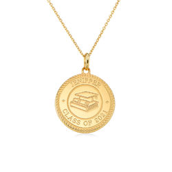 Graduation Cap Personalized Necklace in Gold Plating product photo