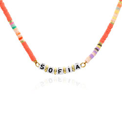Coral Reef Kids Name Necklace in Gold Plating product photo