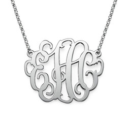 Large Monogram Necklace in Sterling Silver product photo