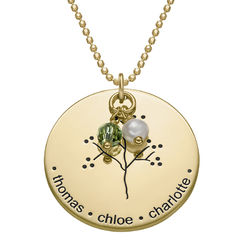 Gold Vermeil Family Tree Necklace product photo