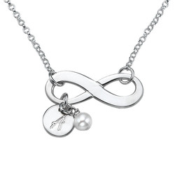 Personalized Infinity Necklace in Sterling Silver product photo