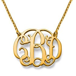 Celebrity Monogram Necklace in 18k Gold Plating product photo