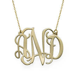 10k Gold Celebrity Monogram Necklace product photo