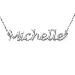 Handwritten Name Necklace in Sterling Silver product photo