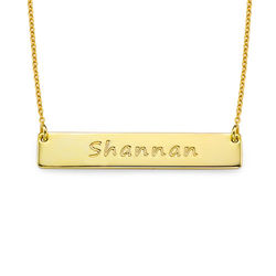 Personalized Bar Necklace in 18k Gold Plated product photo