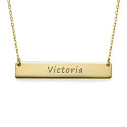 Personalized Gold Bar Necklace product photo