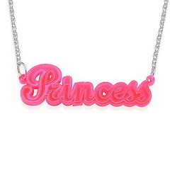 Neon Pink! Name Necklace product photo
