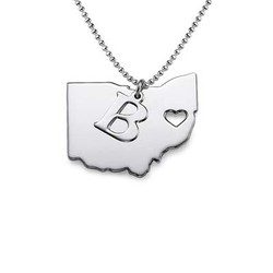 State Necklace - Personalized with your Initial product photo