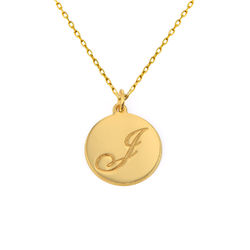 Script Initial Pendant Necklace in 10k Solid Gold product photo