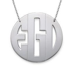 XXL Large Block Monogram Necklace product photo