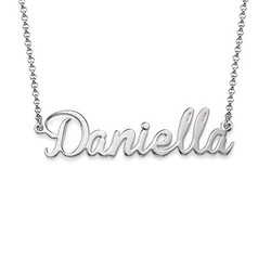 Charm Name Necklace in Sterling Silver product photo