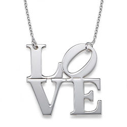LOVE Necklace in Sterling Silver product photo