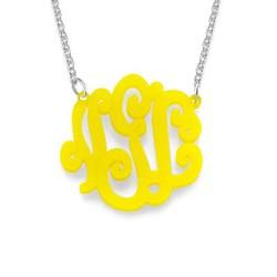 Acrylic Monogram Necklace product photo