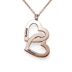 Heart in Heart Necklace in Rose Gold Plating product photo