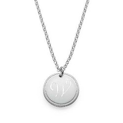 Circle Initial Necklace product photo