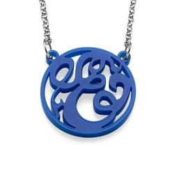 Single Initial Acrylic Monogram Necklace product photo