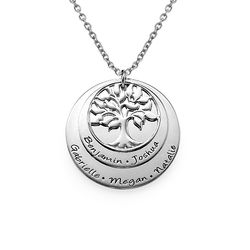 Layered Family Tree Necklace in Silver product photo