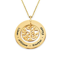 10K Gold Family Tree Necklace product photo