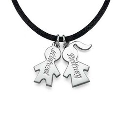 Kids Charms on a Cord Necklace product photo