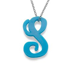 Acrylic Initial Necklace product photo