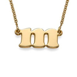 Small Initial Necklace in 18k Gold Plating product photo
