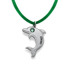 Dolphin Necklace in Sterling Silver product photo