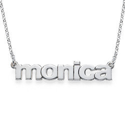 Nameplate Necklace in Lowercase Font product photo