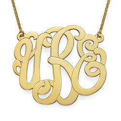 Gold Plated XXL Premium Monogram Necklace product photo