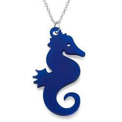 Seahorse Necklace in Acrylic product photo