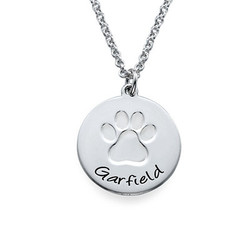 Personalized Paw Print Necklace product photo