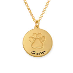 Paw Print Necklace in Gold Vermeil product photo