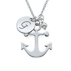 Anchor Jewelry with Initial Charm product photo