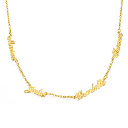 Multiple Name Necklace in 18k Gold Vermeil product photo