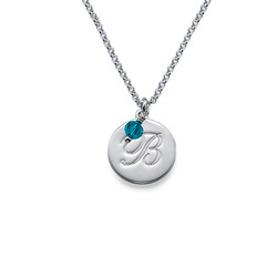 Children's Baptism Necklace in Sterling Silver product photo