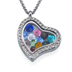 Birthstone Charms Floating Locket product photo