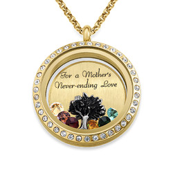 We Are Family Floating Locket with Gold Plating product photo