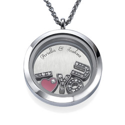 I LOVE YOU Floating Charms Locket product photo
